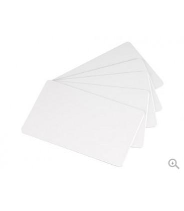 Carte blanche 0,75mm PVC LAMINE 86x54mm+PERFO RONDE GRANDE COTE